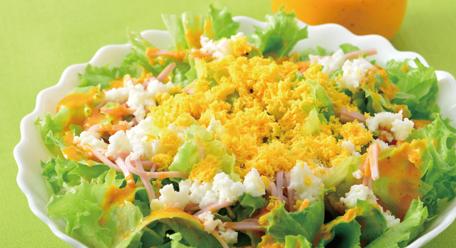 【健康体レシピ】『30品目野菜』を使ったレタスのミモザサラダ